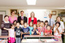 EDUCATIONElizabeth Truss (fourth from left), parliamentary under secretary of state for education and childcare, visited an after-school abacus class at the Shuzan Gakko Soroban Association in Shinjuku on 24 June with Jeff Streeter (third from left), British Council Japan director.