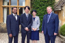 ROYALTY Prince Fumihito Akishino and Princess Kiko Akishino (centre) visited Cotswolds hotel Lords of the Manor on 7 July. They are pictured with Sunil George (left), assistant restaurant manager, and Paul Thompson (right), general manager.