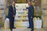 PARLIAMENT Attending the Fukushima okiagari koboshi exhibition on display from 7-11 July at the Houses of Parliament (page 8) were (from left): Keiichi Hayashi, Japanese ambassador to the UK, and Yoshio Mitsuyama, chairman of Fukushima Prefectural Association, UK.