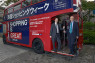 TRADEMinister of State for Trade and Investment Lord Livingston (left), and British Ambassador to Japan Tim Hitchens CMG LVO are pictured with a London bus used to promote UK Trade & Investment's GREAT Week on 27-31 October.