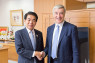 CULTURE Sir Vernon Ellis, chair of the British Council (right), met Hakubun Shimomura, education, culture, sports, science and technology minister, at the ministry on 16 October.