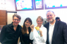Ben & Jerry's, a division of Unilever, opened its flagship ice cream shop in Omotesando on 14 April. At the event were (from left): Ray Bremner, president and CEO of Unilever Japan Custom Marketing K.K.; Kay Hattori, of Edelman Japan; Lori Henderson, executive director of the BCCJ; and Jerry Greenfield, co-founder of Ben & Jerry's.