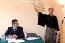 """Professor Tomotaka Sekine spoke at the Daiwa Anglo-Japanese Foundation on """"Sumidagawa and Curlew River: Britten's encounter with Noh"""" at the Daiwa Foundation Japan House in London on 6 September."""