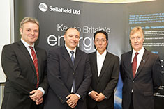 Representatives from the UK Parliament, REACT Engineering, TEPCO and Sellafield Ltd. at Cumbria in May.