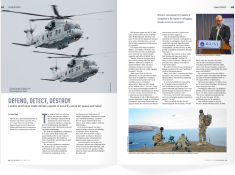 The December 2013 issue featured London and Tokyo's trade of military assets for peace and relief.