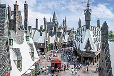 The Wizarding World of Harry Potter, in Osaka, placed third in the ranking.