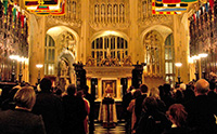 Westminster Abbey was host to the service.