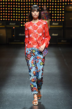 Bright colours and florals are key in Holland's 70s-inspired designs.
