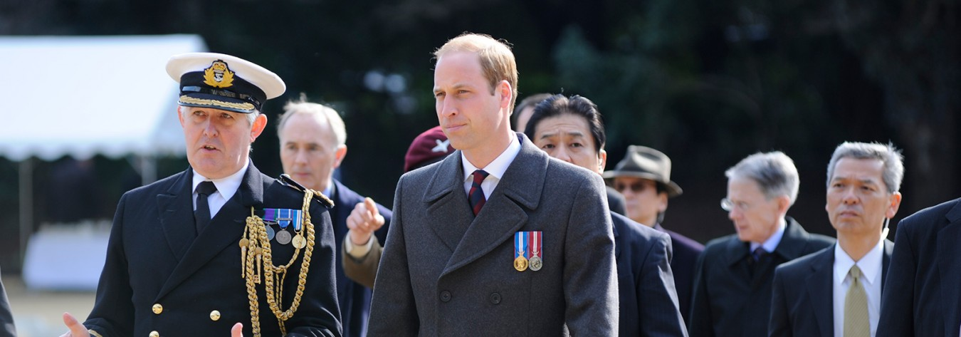 Prince William pays his respects at the Commonwealth War Ceremony in Yokohama. Photos © British Embassy Tokyo / Alfie Goodrich