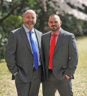 Embassy staff Tim Johnson (left) and Ryan Parkins married on 24 April.