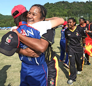Cricket teams of Japan and Papua New Guinea met in a qualifying match for the ICC Women's Cricket World Cup final.