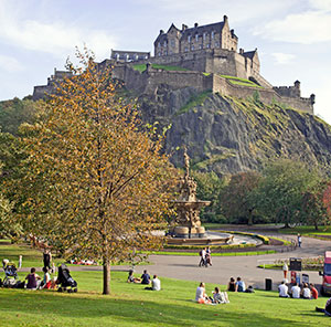 Edinburgh Castle is a top attraction.