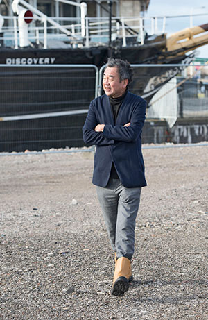 Kengo Kuma visited the construction site in Dundee in March.