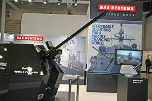The BAE Systems stand