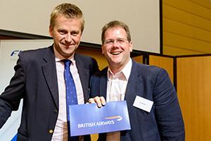 Jonty Brunner (left) of British Airways and Jim Weisser