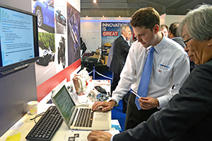 Delegates showcased their technology to attendees.