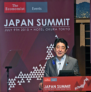 Prime Minister Shinzo Abe addressed delegates.