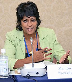 Keshini Navaratnam spoke in one of the sessions.