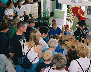 Elaine Cooper gave washi-making demonstrations at a Japan festival in the UK in 2001.