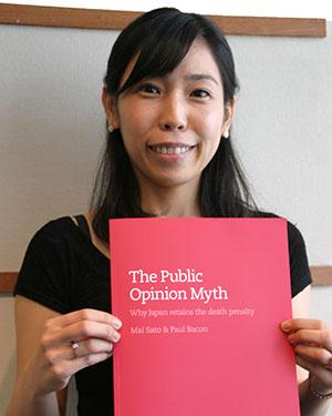 Dr Mai Sato, author of The Public Opinion Myth