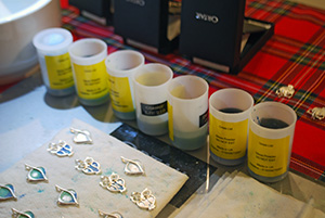 Items from Ortak Ltd.'s jewellery range were created at the fair.