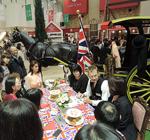 Japanese consumers joined a tea party hosted by Ringtons.