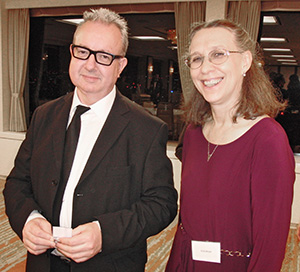 Gordon O'Byrne and Vicki L Beyer of Breakfast Toastmasters