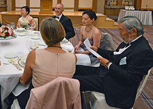 The VIP table included HIH Princess Akiko (left), Ambassador Tim Hitchens CMG LVO, and former Japanese Ambassador to the UK and JBS Chairman Yoshiji Nogami (right).