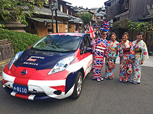 Diane Kichijitsu (left) was one of the drivers on the cross-country relay.