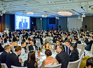 Guests enjoyed a six-course British gala dinner.