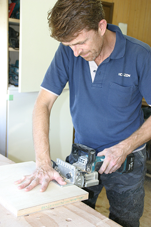 Richard Morgan at work in his workshop southwest of Tokyo.