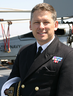 Commander Simon Staley was attached to the US fleet in Kanagawa Prefecture.