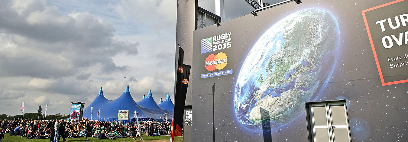 Rugby supporters flocked to fan zones located in and around host cities.