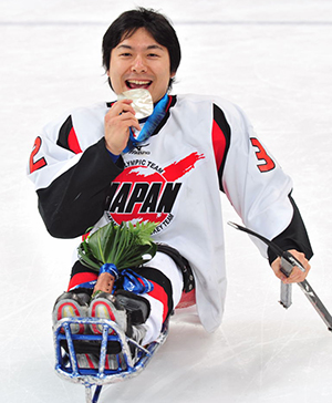 Ice sledge hockey Paralympian Daisuke Uehara
