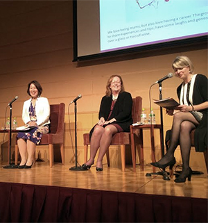 Female leaders in Tokyo joined a panel discussion at the event.