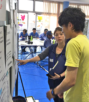 Teams based in Kumamoto assess community needs.