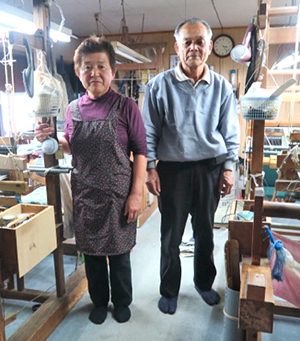 Weavers at Okujun's kimono workshop in Tokyo