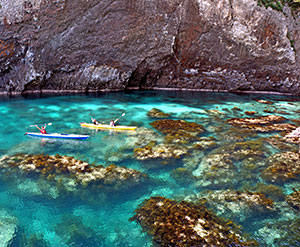 Activities such as sea kayaking are popular offerings.