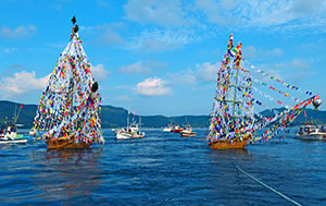 Locals say farewell to their ancestors at the spirit boats festival.