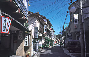 Yunotsu Town is home to many hot springs.