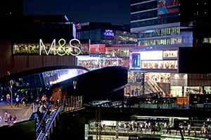 Shopping centre Westfield Stratford City draws visitors to the Olympic Stadium in Stratford, London.