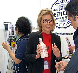 Vicky Miller of Eden Mill brewery and distillery in Scotland spoke to attendees.