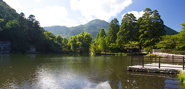 At the base of Mount Yufu, Yufuin has a wealth of natural beauty.