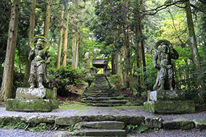 The entrance to Futago-ji, a temple on Kunisaki Peninsula.
