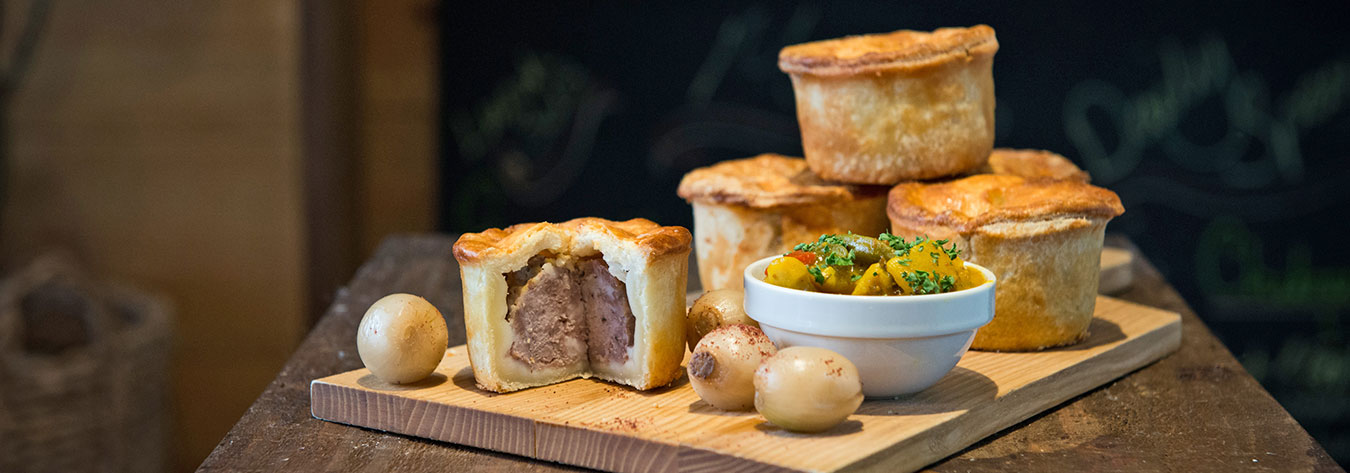 The Swan & Lion's speciality pies are made with British recipes. PHOTO BY ALEXANDER TREVES