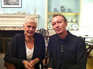 Perryman with Judi Dench