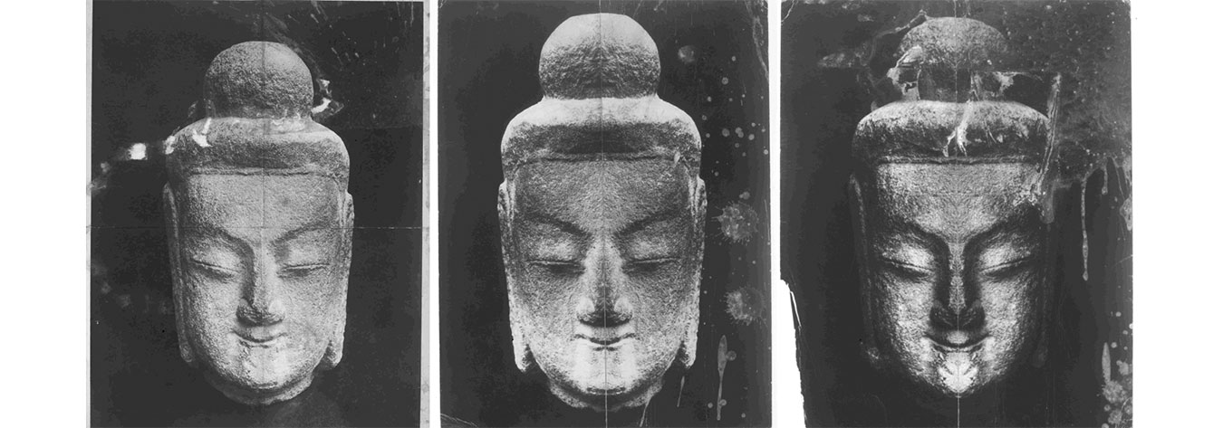 Empson was fascinated by the asymmetry in the faces of Buddhist statues and manipulated them to achieve new expressions.