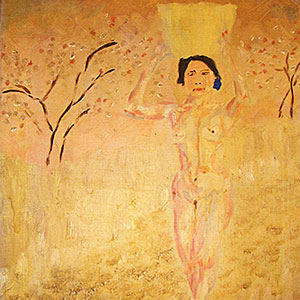 A painting by Empson of his girlfriend, Haru.