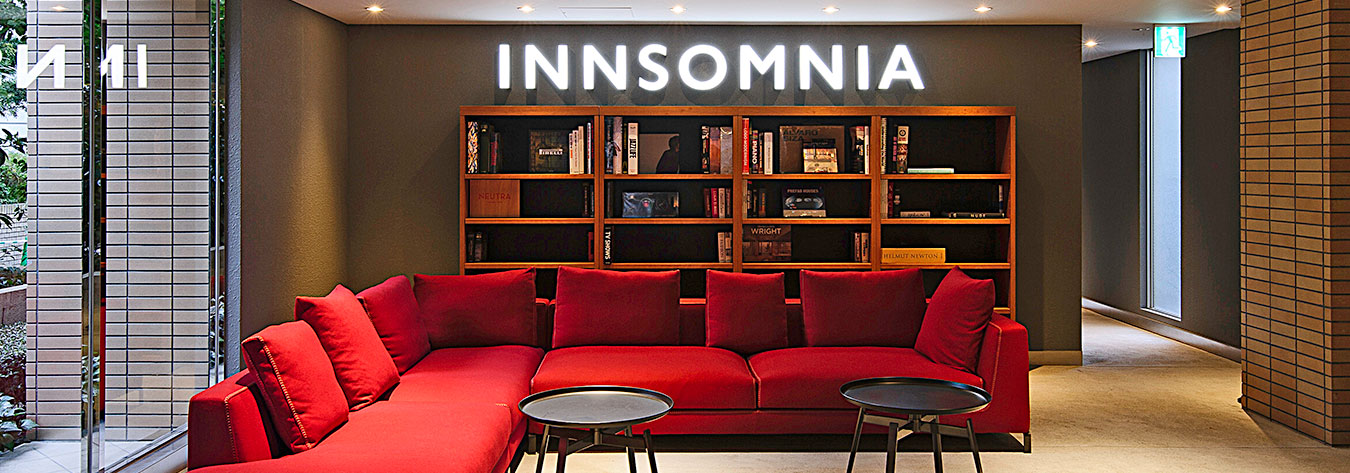 HOTEL the M INNSOMNIA akasaka has been designed to reflect the culture and rhythms of the surrounding district.