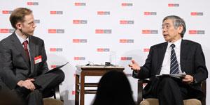Bank of Japan Governor Haruhiko Kuroda spoke with The Economist's Simon Cox.
